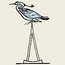 Drawing of a Bennu bird, an ancient Egyptian deity linked with the Sun, creation, and rebirth.